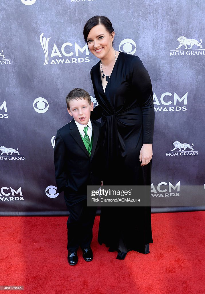 Singer/songwriter <a gi-track='captionPersonalityLinkClicked' href=/galleries/search?phrase=Brandy+Clark&family=editorial&specificpeople=10535196 ng-click='$event.stopPropagation()'>Brandy Clark</a> (R) and Max Clark attend the 49th Annual Academy of Country Music Awards at the MGM Grand Garden Arena on April 6, 2014 in Las Vegas, Nevada.