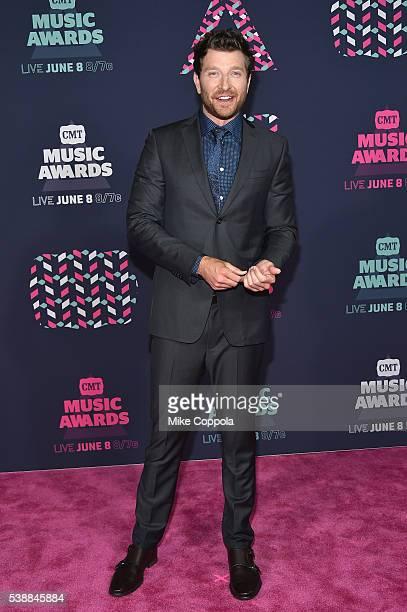 Singersongwriter Brett Eldredge attends the 2016 CMT Music awards at the Bridgestone Arena on June 8 2016 in Nashville Tennessee