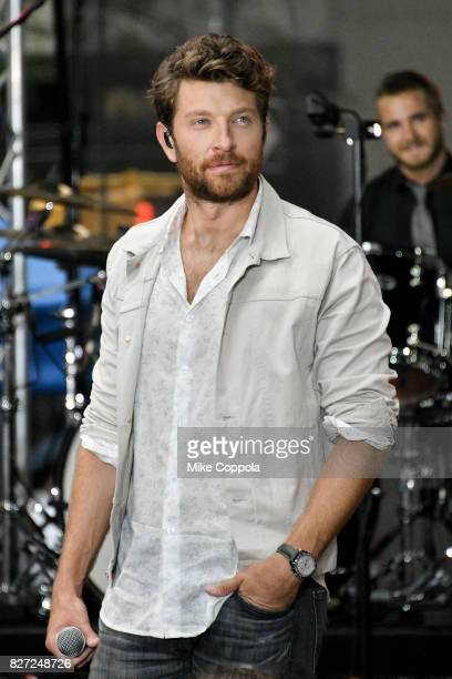 Singer/songwriter Brett Eldredge performs on NBC's 'Today' at Rockefeller Plaza on August 7 2017 in New York City