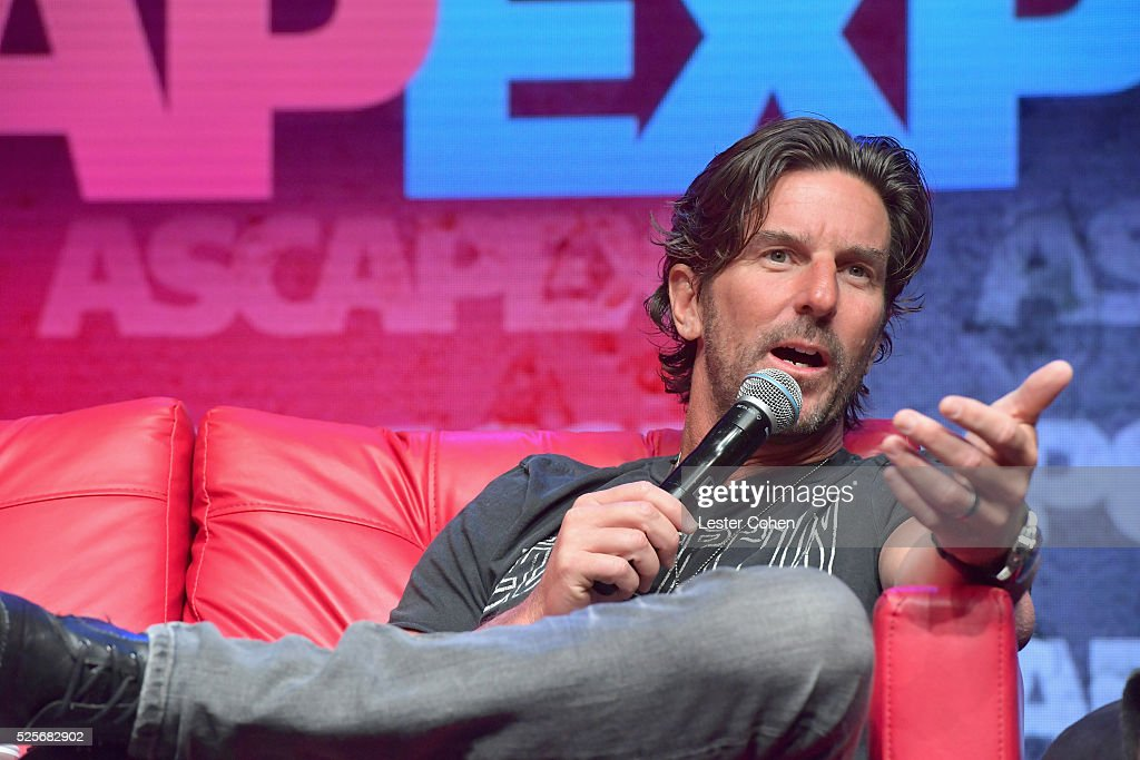 Singer-songwriter Brett James speaks onstage during the 'When the Hits Hit the Fans' panel, part of the 2016 ASCAP 'I Create Music' EXPO on April 28, 2016 in Los Angeles, California.