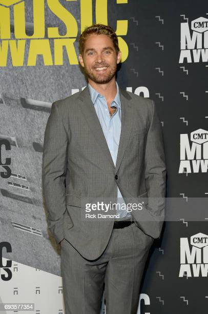 Singersongwriter Brett Young attends the 2017 CMT Music awards at the Music City Center on June 7 2017 in Nashville Tennessee