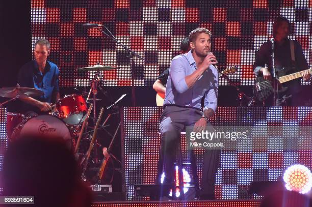 Singersongwriter Brett Young performs onstage during the 2017 CMT Music Awards at the Music City Center on June 6 2017 in Nashville Tennessee
