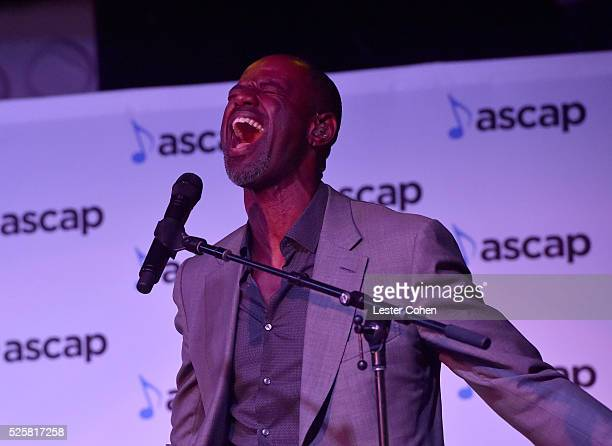 Singersongwriter Brian McKnight performs onstage during the 2016 ASCAP 'I Create Music' EXPO Center Stage on April 28 2016 in Los Angeles California