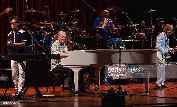 Singersongwriter Brian Wilson performs on stage at Benaroya Hall on July 12 2015 in Seattle Washington