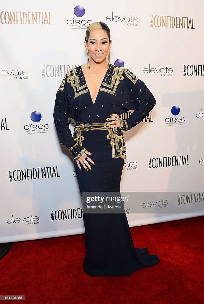 Singer/songwriter Bridget Kelly arrives at the Los Angeles Confidential and Harmony Project GRAMMY after party honoring Mary J. Blige at Elevate Lounge on February 10, 2013 in Los Angeles, California.