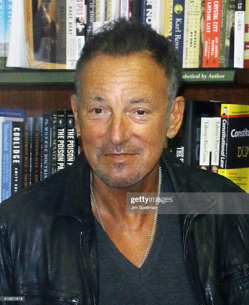 Singer/songwriter Bruce Springsteen promotes his new book 'Born to Run' at Barnes & Noble Union Square on September 28, 2016 in New York City.