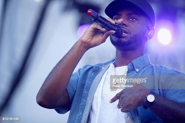 Singersongwriter Bryson Tiller performs onstage during the 2016 Daytime Village at the iHeartRadio Music Festival at the Las Vegas Village on...