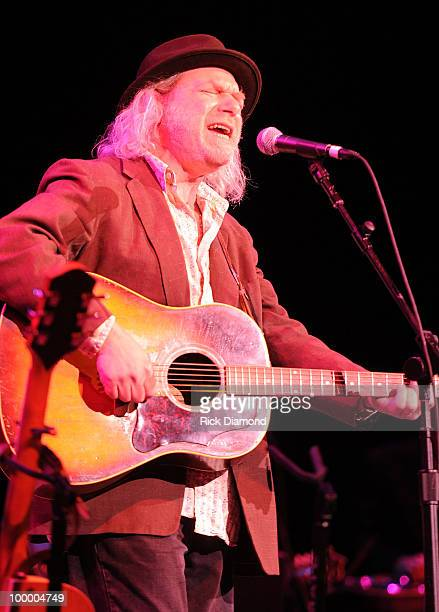 Singer/Songwriter Buddy Miller performs during the 'Music Saves Mountains' benefit concert at the Ryman Auditorium on May 19 2010 in Nashville...