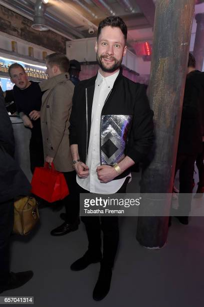 Singersongwriter Calum Scott attend the 'Ghost in The Shell' London Gala Screening after party at Lights of Soho on March 23 2017 in London United...