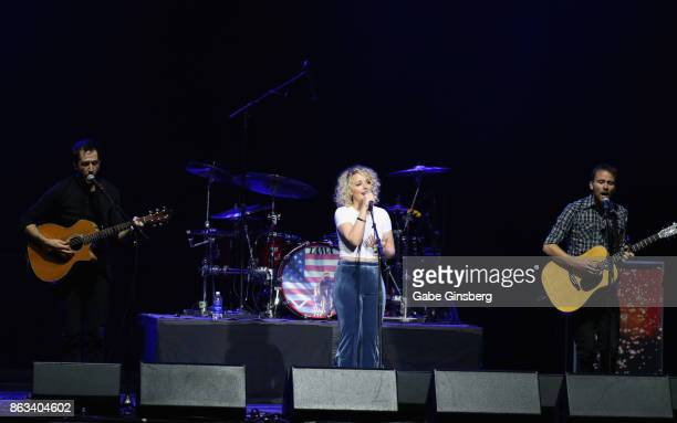 Singer/songwriter Cam performs during 'Vegas Strong A Night of Healing' at the Orleans Arena on October 19 2017 in Las Vegas Nevada The concert...
