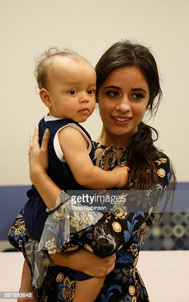 Singer/songwriter Camila Cabello tours the Childrens Health Fund Center for Child Health Resiliencyon August 29 2016 in South Bronx New York City