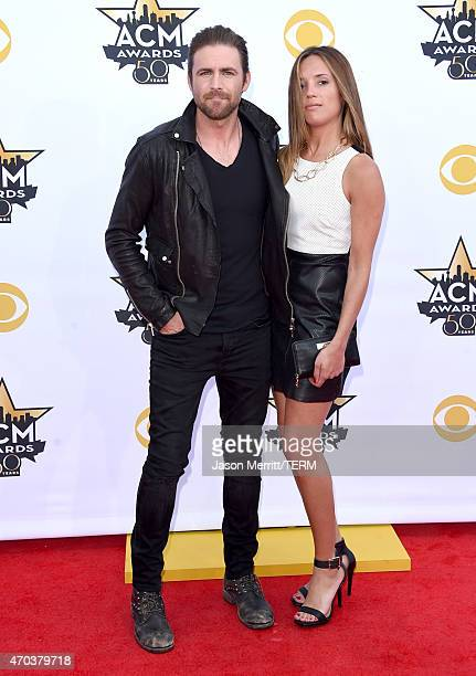Singer/songwriter Canaan Smith and Christy Hardesty attend the 50th Academy of Country Music Awards at ATT Stadium on April 19 2015 in Arlington Texas
