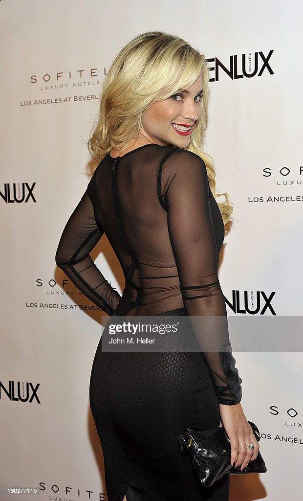 Singer/songwriter Cara Quici attends Genlux Magazine's Hosting of Photographer Gilles Bensimon's portraits at the Sofitel Hotel on October 29, 2013 in Los Angeles, California.