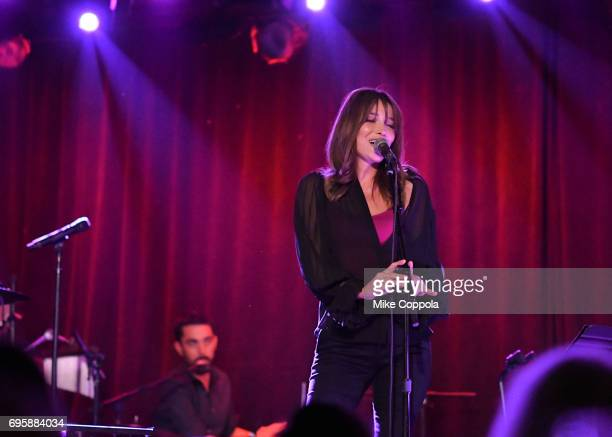 Singer/songwriter Carla Bruni Performs During US Showcase on June 13 2017 in New York City