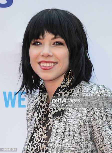Singer/songwriter Carly Rae Jepsen attends We Day Toronto at the Air Canada Centre on October 1 2015 in Toronto Canada