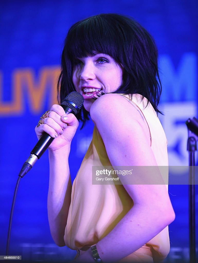 Singer/songwriter Carly Rae Jepsen performs live during JetBlue's Live From T5 Concert With Carly Rae Jepsen at John F Kennedy International Airport...