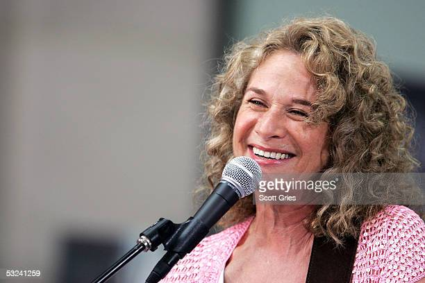 Singer/songwriter Carole King performs onstage during the Toyota Concert Series on the Today Show July 15 2005 in New York City