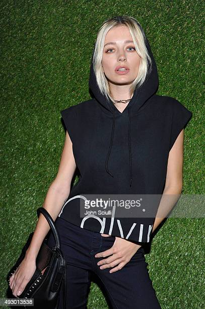 Singersongwriter Caroline Vreeland attends the Calvin Klein Jeans hosted music event in Los Angeles to celebrate the fall 2015 ad campaign at The...