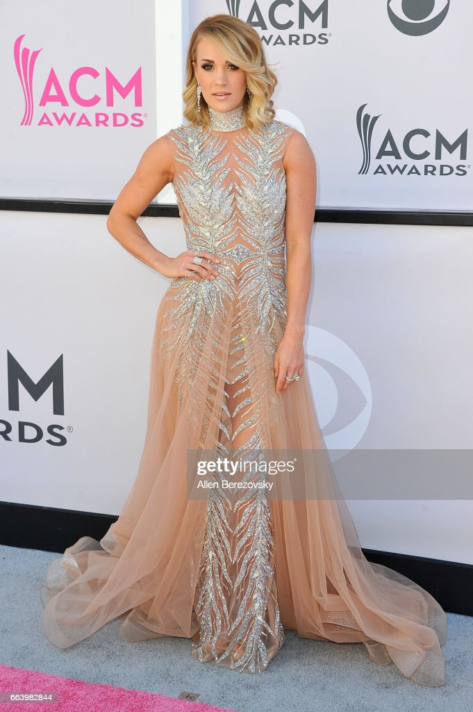 Singer-songwriter Carrie Underwood arrives at the 52nd Academy Of Country Music Awards on April 2, 2017 in Las Vegas, Nevada.