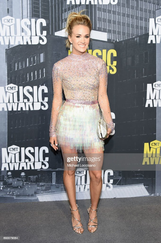 Singer-songwriter Carrie Underwood attends the 2017 CMT Music Awards at the Music City Center on June 7, 2017 in Nashville, Tennessee.
