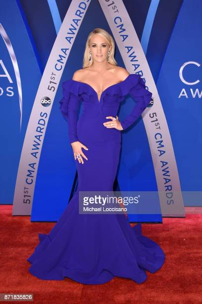 Singersongwriter Carrie Underwood attends the 51st annual CMA Awards at the Bridgestone Arena on November 8 2017 in Nashville Tennessee