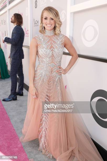 Singer/songwriter Carrie Underwood attends the 52nd Academy Of Country Music Awards at Toshiba Plaza on April 2 2017 in Las Vegas Nevada
