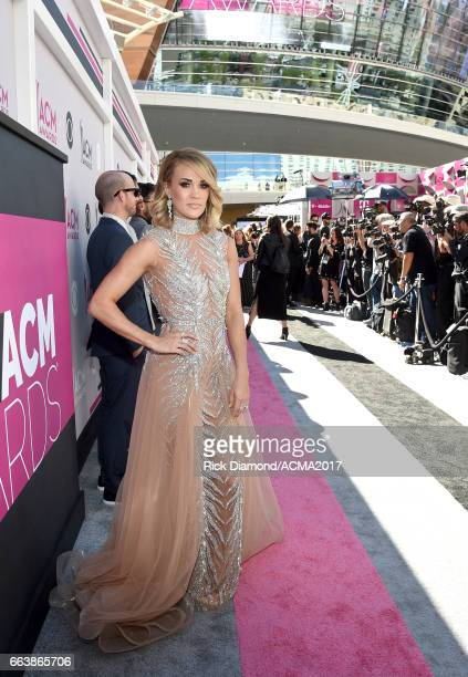 Singersongwriter Carrie Underwood attends the 52nd Academy Of Country Music Awards at Toshiba Plaza on April 2 2017 in Las Vegas Nevada
