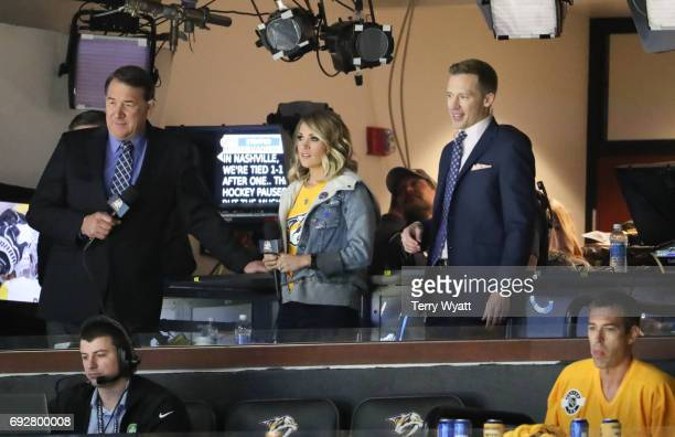 Singersongwriter Carrie Underwood attends the Stanley Cup Finals Game 4 Nashville Predators Vs Pittsburgh Penguins at Bridgestone Arena at...