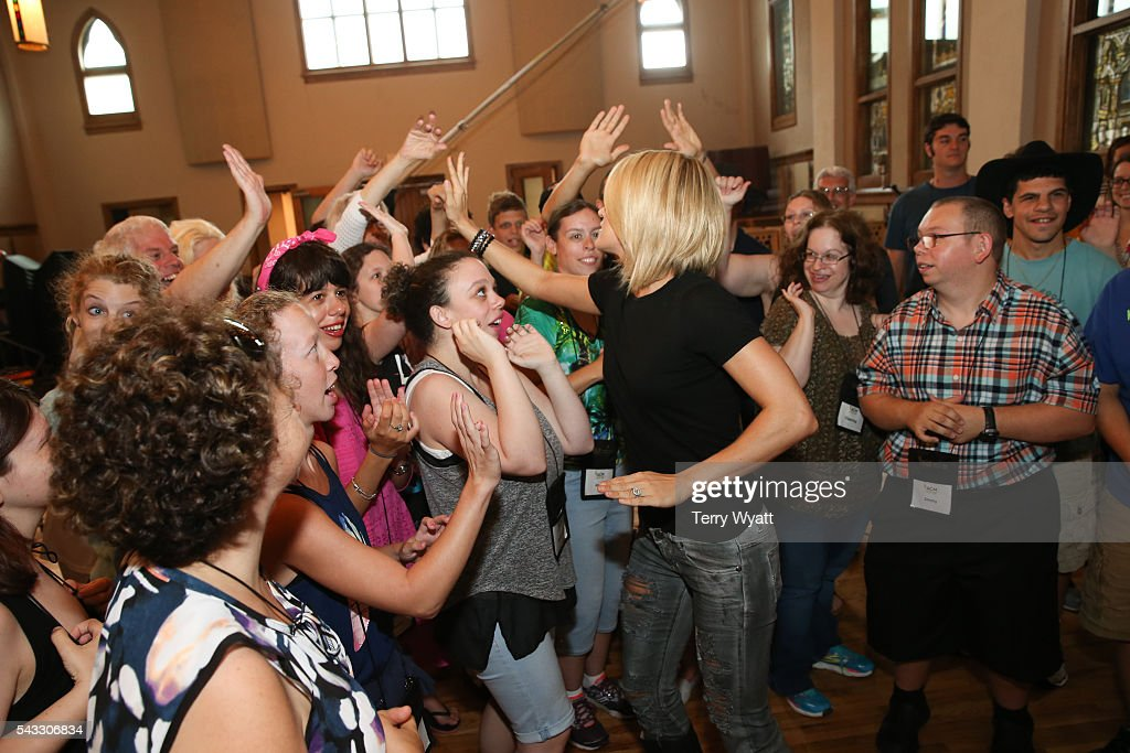 Singer-songwriter <a gi-track='captionPersonalityLinkClicked' href=/galleries/search?phrase=Carrie+Underwood&family=editorial&specificpeople=204483 ng-click='$event.stopPropagation()'>Carrie Underwood</a> spends time with ACM Lifting Lives campers during Music Camp Studio Day with Ross Copperman and <a gi-track='captionPersonalityLinkClicked' href=/galleries/search?phrase=Carrie+Underwood&family=editorial&specificpeople=204483 ng-click='$event.stopPropagation()'>Carrie Underwood</a> at Belmont University's Ocean Way Nashville Studios on June 27, 2016 in Nashville, Tennessee.