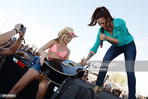 Singer/Songwriter Cassadee Pope performs at Country Thunder USA In Florence Arizona Day 2 on April 11 2014 in Florence United States