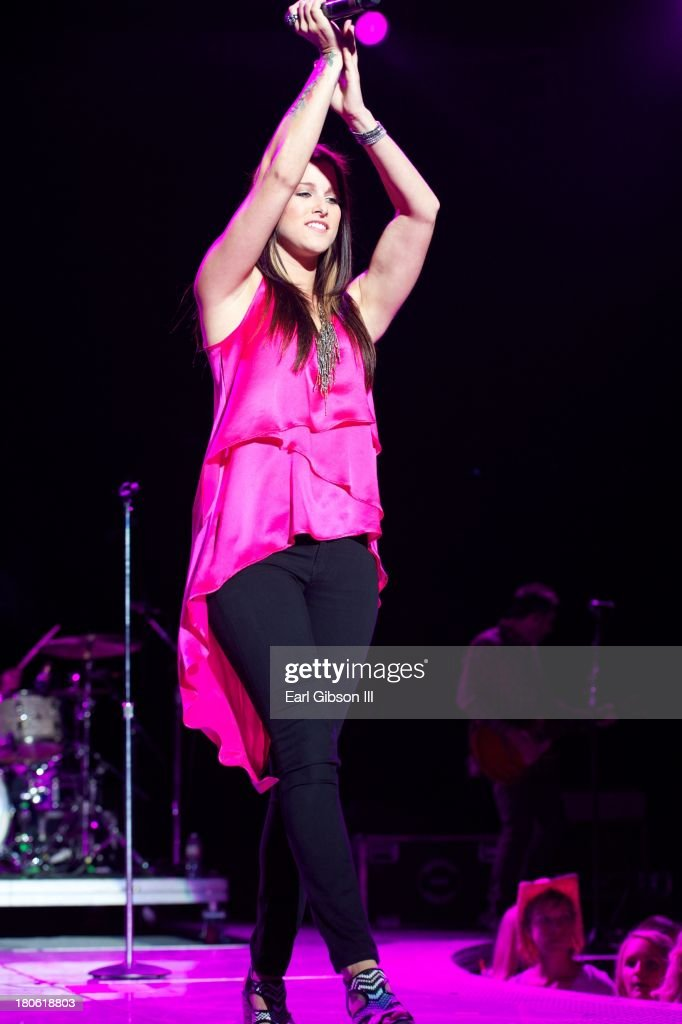 Singer/Songwriter Cassadee Pope performs at Verizon Wireless Amphitheatre on September 14, 2013 in Laguna Hills, California.