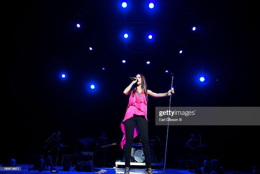 Singer/Songwriter Cassadee Pope performs at Verizon Wireless Amphitheatre on September 14, 2013 in Laguna Hills, California.
