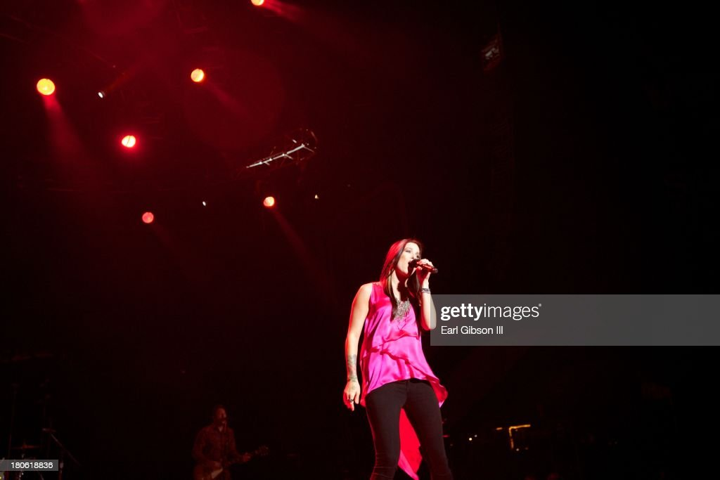 Singer/Songwriter <a gi-track='captionPersonalityLinkClicked' href=/galleries/search?phrase=Cassadee+Pope&family=editorial&specificpeople=5613333 ng-click='$event.stopPropagation()'>Cassadee Pope</a> performs at Verizon Wireless Amphitheatre on September 14, 2013 in Laguna Hills, California.