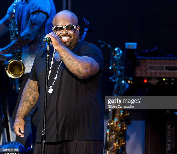 Singersongwriter Cee Lo Green performs during Lionel Richie All The Hits All Night Long Tour at the Susquehanna Bank Center on July 23 2014 in Camden...