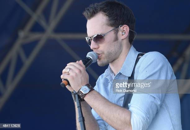 Singer/Songwriter Chad Brownlee performs at Country Thunder USA In Florence Arizona Day 1 on April 10 2014 in Florence United States