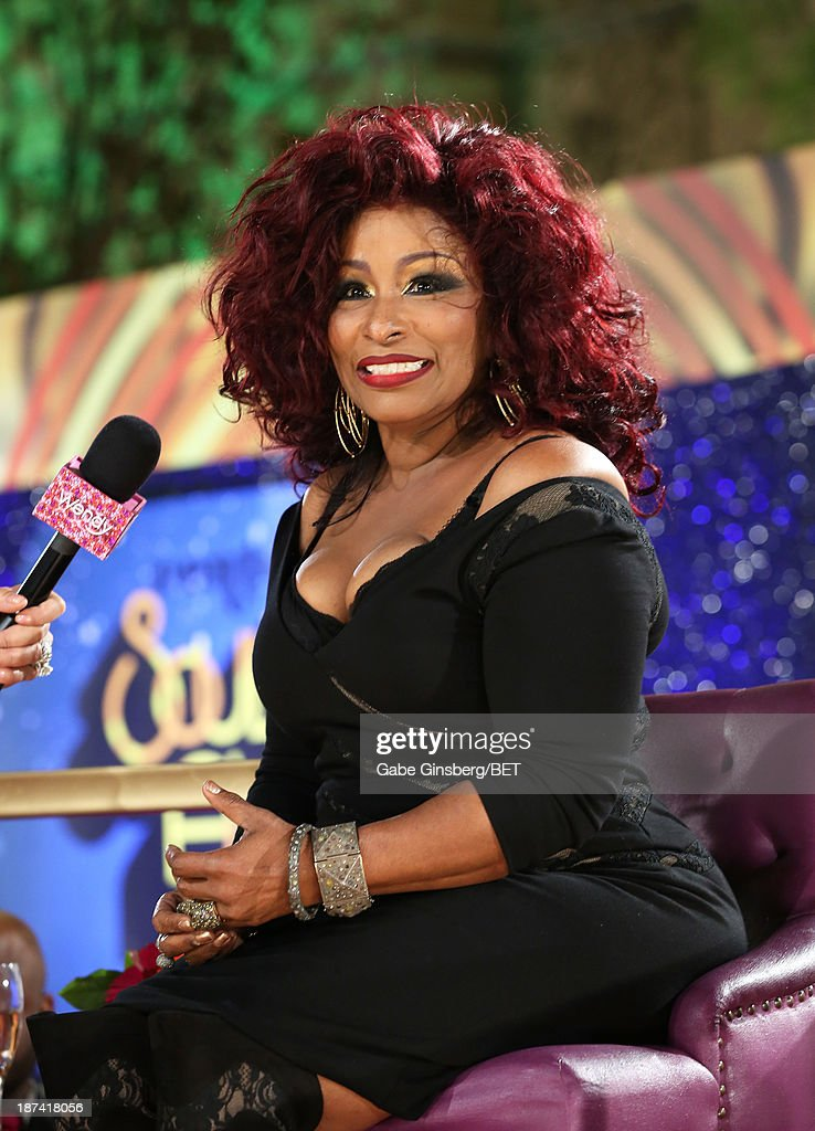 Singer/songwriter <a gi-track='captionPersonalityLinkClicked' href=/galleries/search?phrase=Chaka+Khan&family=editorial&specificpeople=208691 ng-click='$event.stopPropagation()'>Chaka Khan</a> attends the Soul Train Awards 2013 at the Orleans Arena on November 8, 2013 in Las Vegas, Nevada.