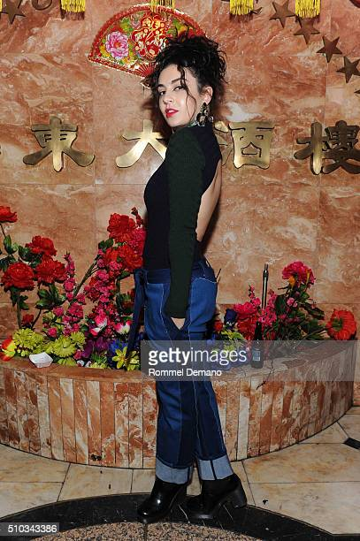 Singer/Songwriter Charli XCX attends Opening Ceremony After Party at 88 Palace on February 14 2016 in New York City