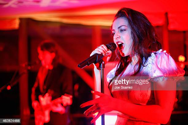 Singersongwriter Charli XCX performs during a celebration of the 57th annual GRAMMY Awards hosted by Delta Air Lines the official airline of the...
