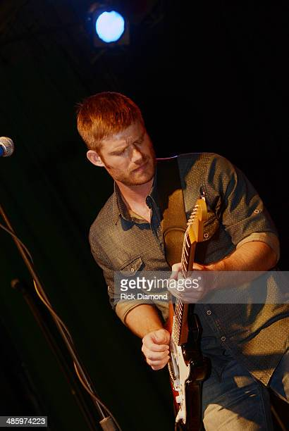 Singer/Songwriter Chris Carmack ABC TV's 'Nashville' performs his first live show at Exit In on April 21 2014 in Nashville Tennessee