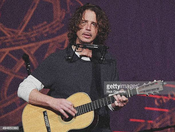 Singer/Songwriter Chris Cornell performs at The Ryman Auditorium on October 27 2015 in Nashville Tennessee