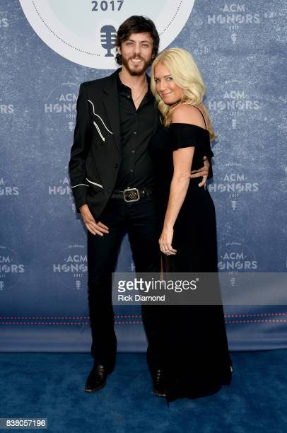 Singersongwriter Chris Janson and Kelly Lynn attend the 11th Annual ACM Honors at the Ryman Auditorium on August 23 2017 in Nashville Tennessee