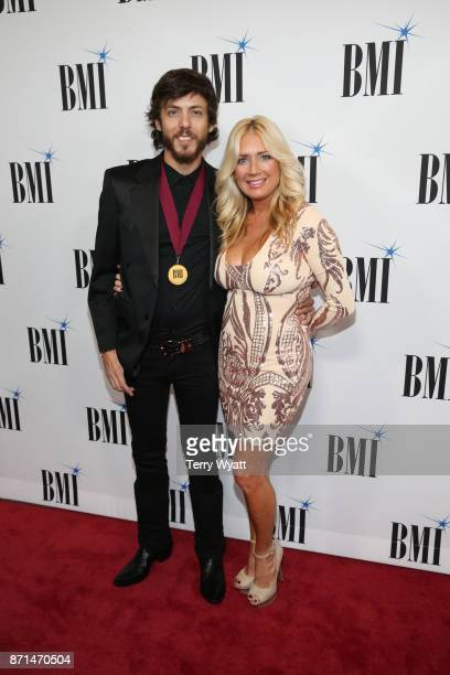 Singersongwriter Chris Janson and Kelly Lynn attend the 65th Annual BMI Country awards on November 7 2017 in Nashville Tennessee
