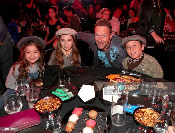 Singersongwriter Chris Martin of music group Coldplay and guests attend the 2017 iHeartRadio Music Awards which broadcast live on Turner's TBS TNT...