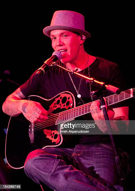 Singer/songwriter Chris Rene performs onstage at The Roxy Theatre on October 18 2012 in West Hollywood California