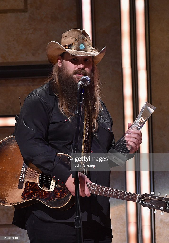 Singer-songwriter Chris Stapleton performs on stage during CMT Artists of the Year 2016 on October 19, 2016 in Nashville, Tennessee.