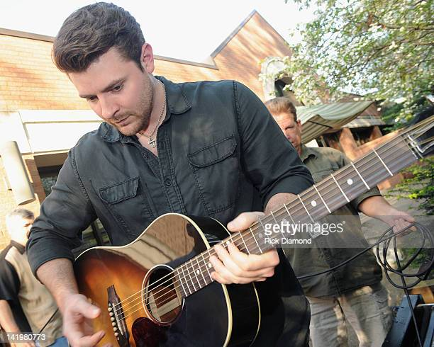 Singer/Songwriter Chris Young attends the Chris Young party at the CMA Office on March 27 2012 in Nashville Tennessee