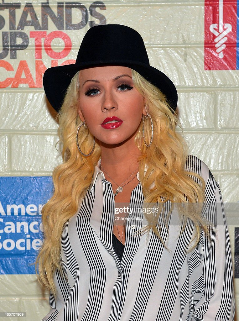 Singer/songwriter Christina Aguilera attends Hollywood Stands Up To Cancer Event with contributors American Cancer Society and Bristol Myers Squibb hosted by Jim Toth and Reese Witherspoon and the Entertainment Industry Foundation on Tuesday, January 28, 2014 in Culver City, California.
