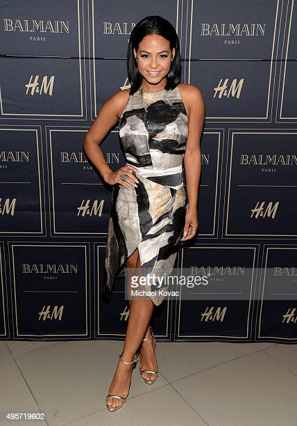 Singer/songwriter Christina Milian attends the Balmain x HM Los Angeles VIP PreLaunch on November 4 2015 in West Hollywood California