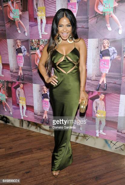 Singer/songwriter Christina Milian attends the DL1961 campaign launch with Sofia Richie and Jasmine Sanders at The Nice Guy on March 8 2017 in Los...
