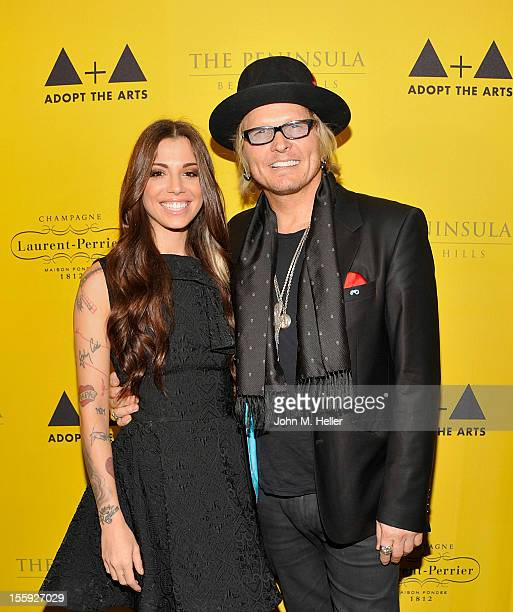 Singer/songwriter Christina Perri and cofounder 'Save The Arts'/drummer for Guns N' Roses Matt Sorum attend The 'Save The Arts' Fundraiser For Adopt...